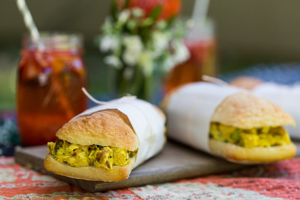 Recipe for Curried Chicken Salad Sandwich from CT Eats Out