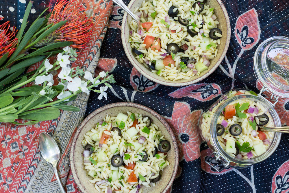 Recipe for Mediterranean Orzo Salad from CTEatsOut.com