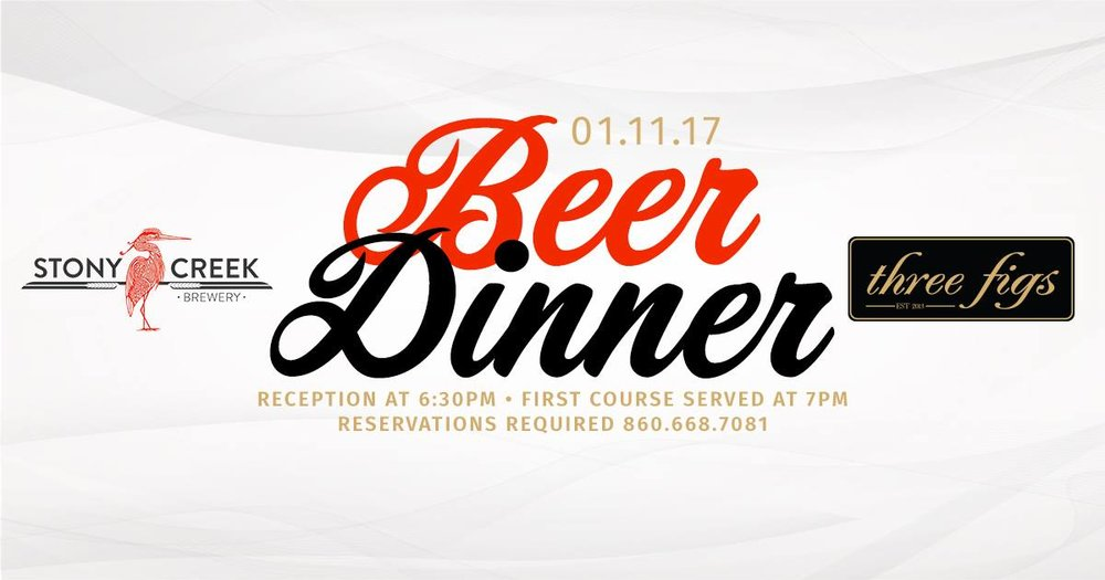 Stony Creek Beer Dinner at Three Figs
