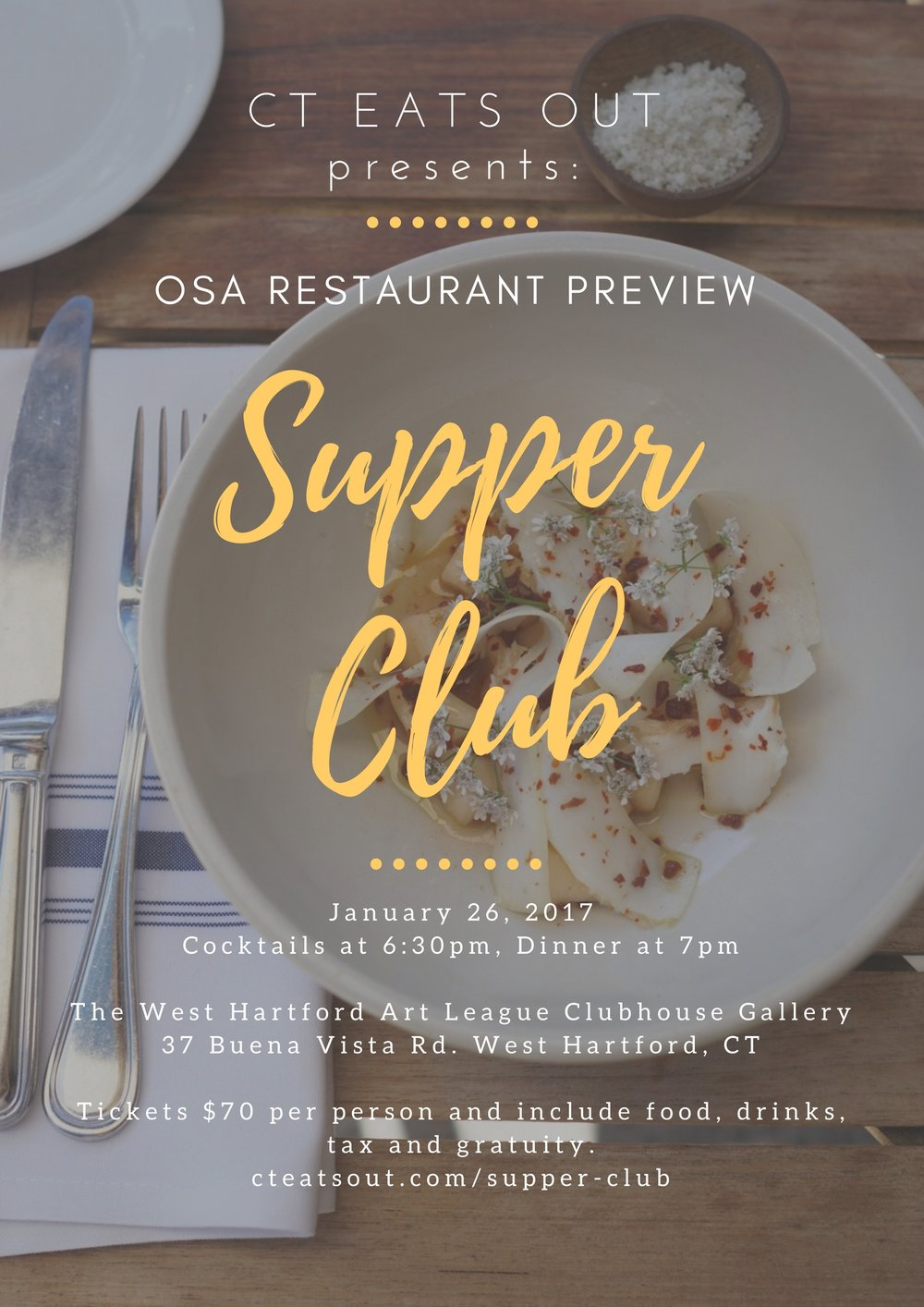 CT Eats Out Supper Club: Osa Restaurant Preview