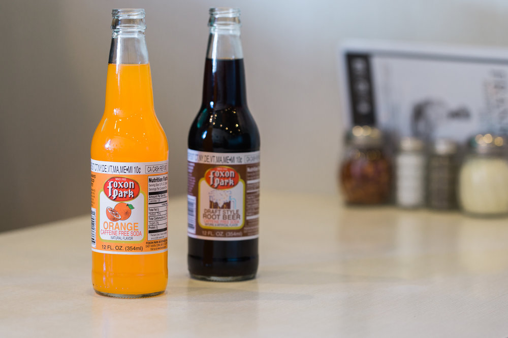 Connecticut Made Foxon Park Soda at Frank Pepe Pizzeria