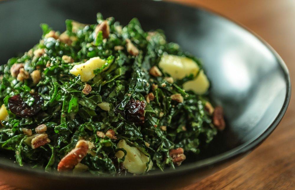 Chef Luke Venner of Elm Restaurant's Kale Salad