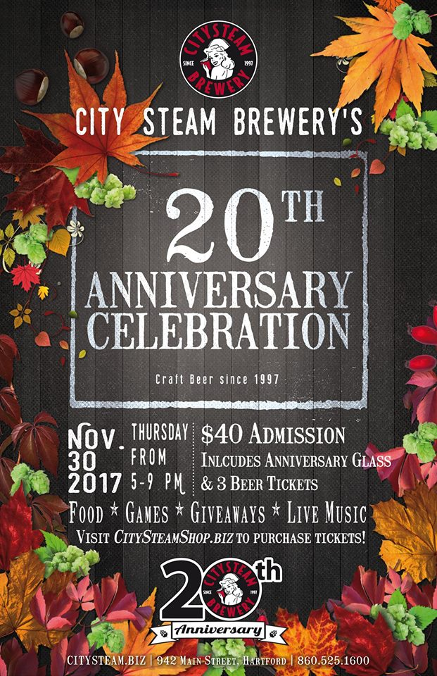 city steam brewery anniversary