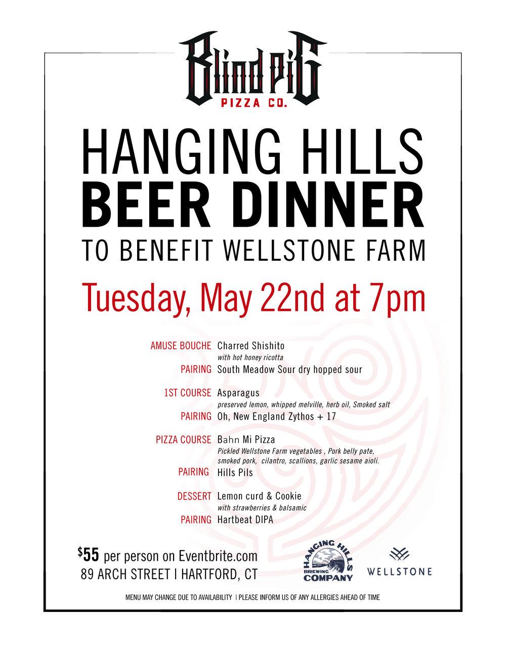 Blind Pig Hanging Hills Dinner Benefit Wellstone Farm