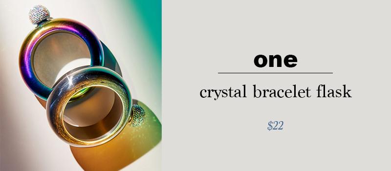 crystal bracelet flask