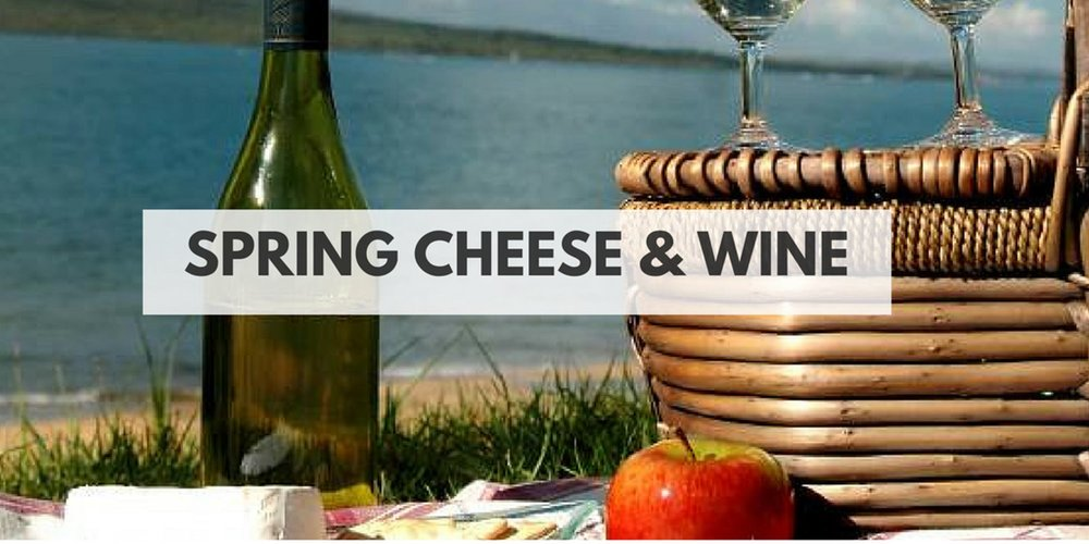 spring cheese and wine tasting