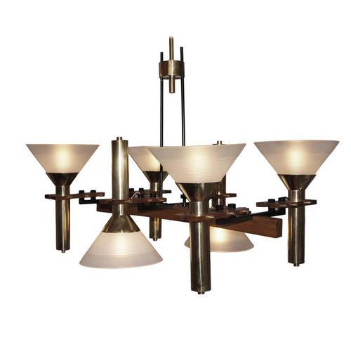 Six light stilnovo chandelier italy 1950s gaspare asaro italian six light stilnovo chandelier italy 1950s aloadofball Gallery