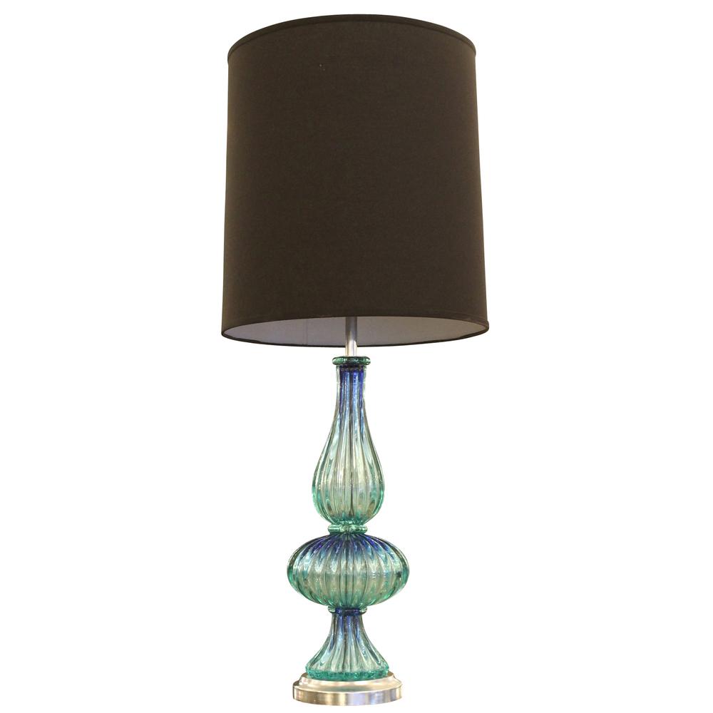 Acqua Murano Glass Table Lamp, Italy, 1960s
