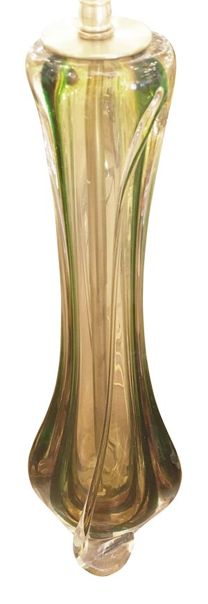Amber and green glass table lamps by val st lambert gaspare asaro amber and green glass table lamps by val st lambert mozeypictures Gallery