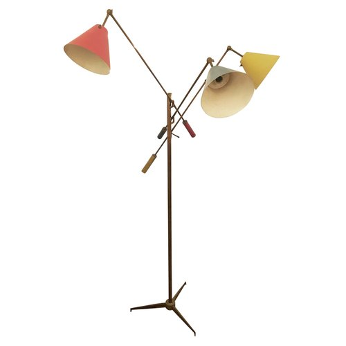 Triennale floor lamp by arredoluce marked 1947