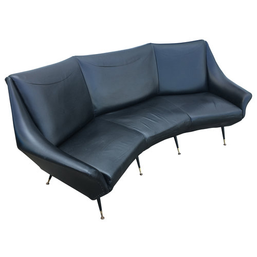 Curved Mid-Century Italian Sofa — Gaspare Asaro-Italian Modern ...
