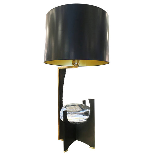 Galileo black iron and glass table lamp by esperia gaspare asaro galileo black iron and glass table lamp by esperia aloadofball Gallery