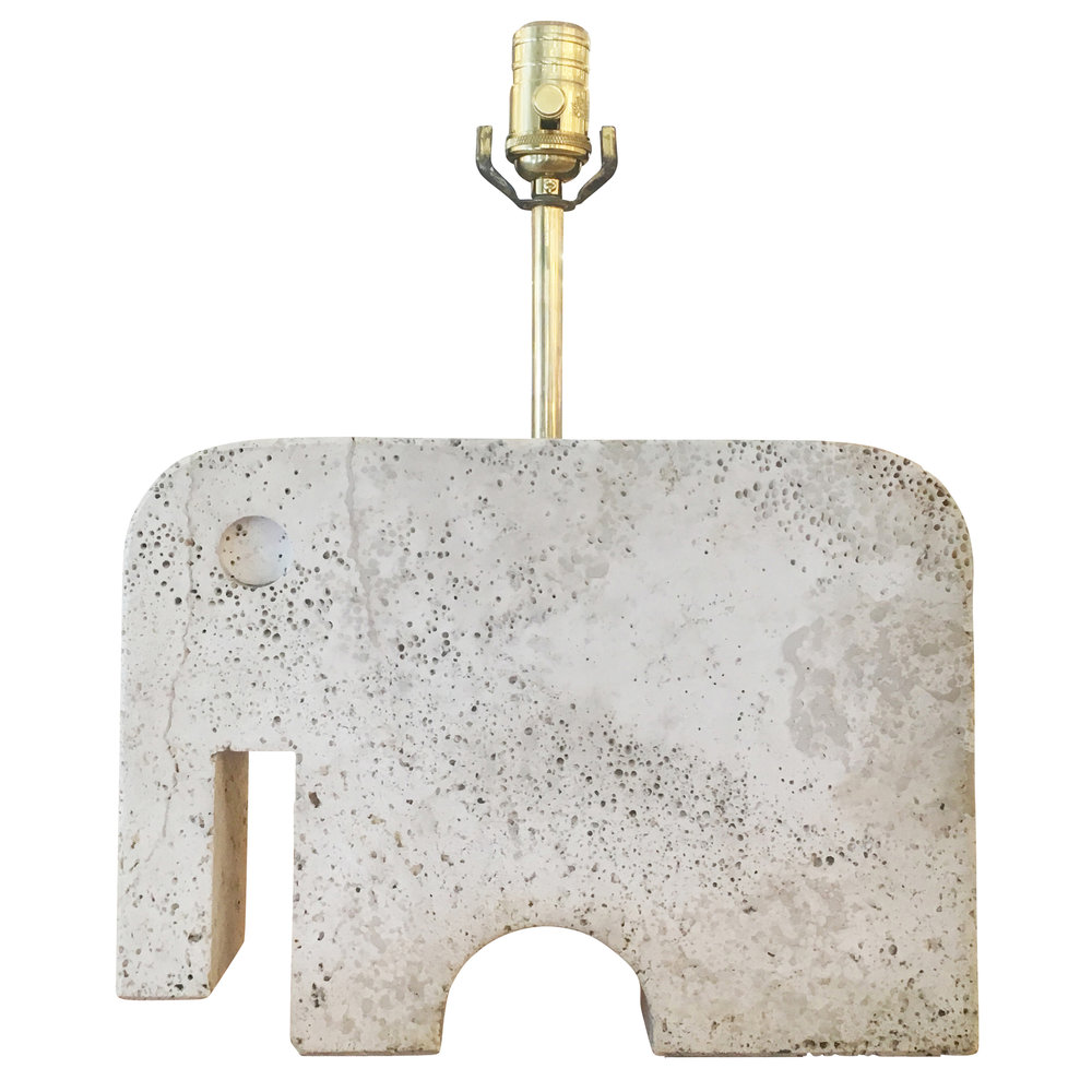 Travertine Elephant Table Lamp. Travertine_ Elephant_Table_Lamp 2