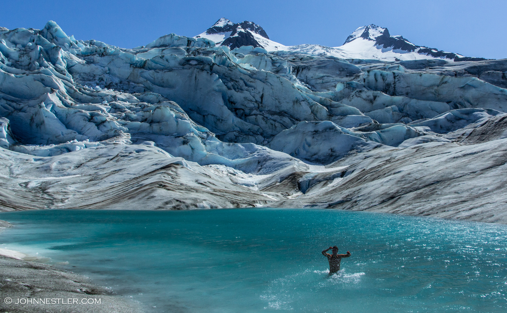 Walker Glacier Swimming
