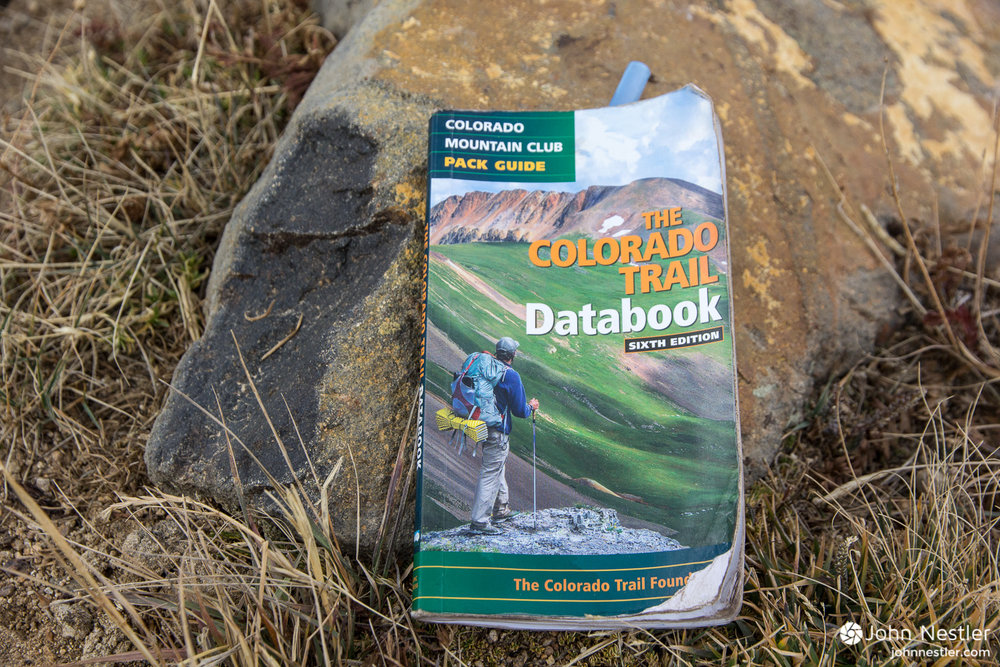 The Colorado Trail Databook. Well worn and immensely helpful while on the trail.