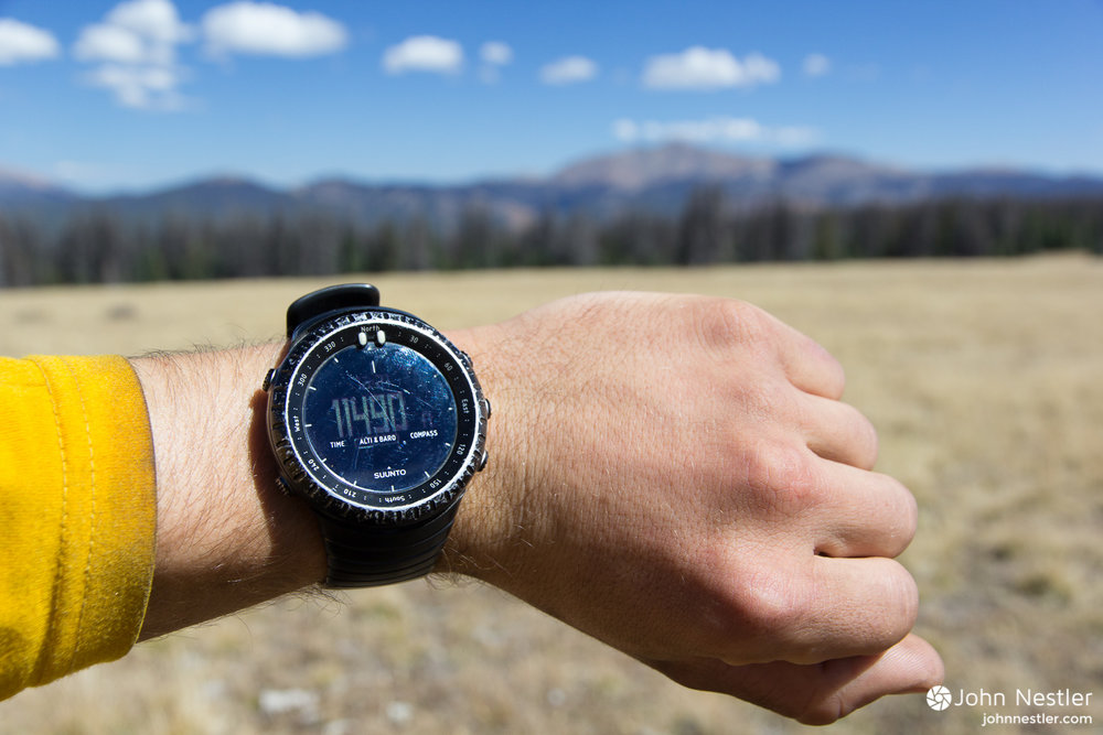 suunto core watch camping