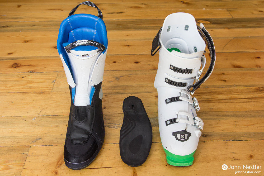 salomon x max 120 liners and base plate