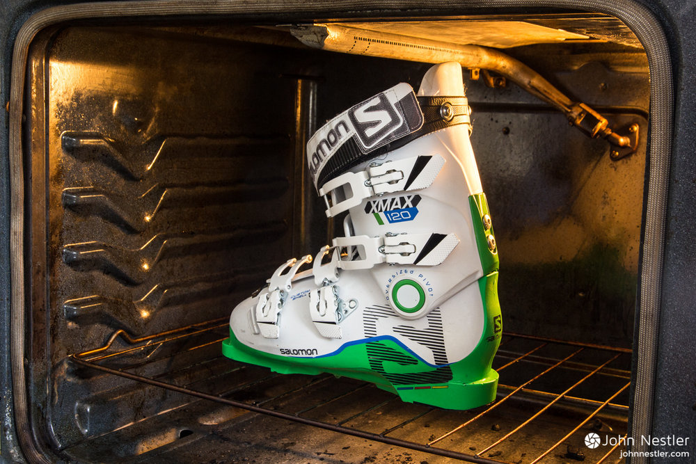 salomon x max 120 boots in oven