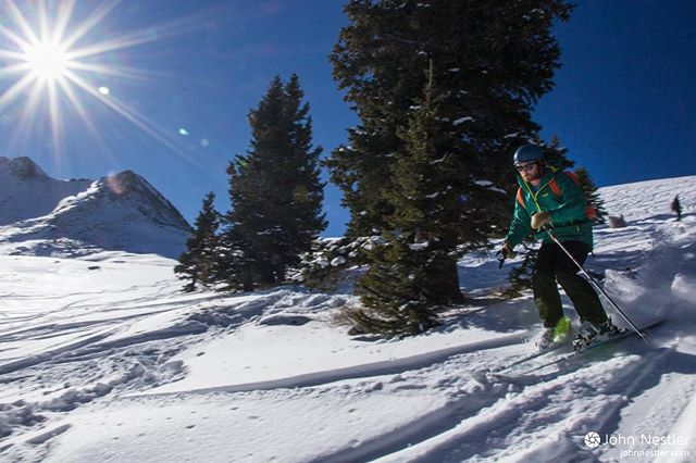 @hicknorning getting some of the first backcountry turns of the season.  #skiing #mayflowergulch #colorado #sportytour