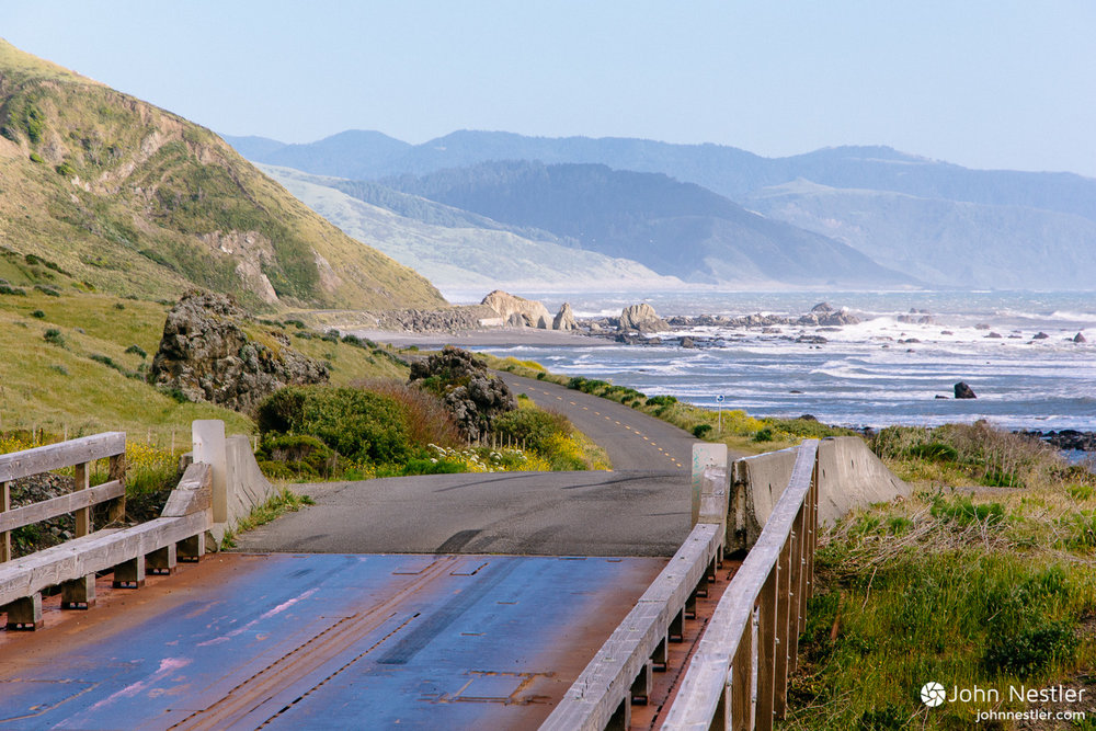 A view from the road leading to Petrolia along the  Lost Coast . This landscape is so rugged here that Highway 101 diverts inland to skip around this section.