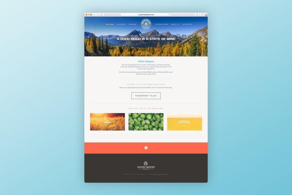 Website design (home page)