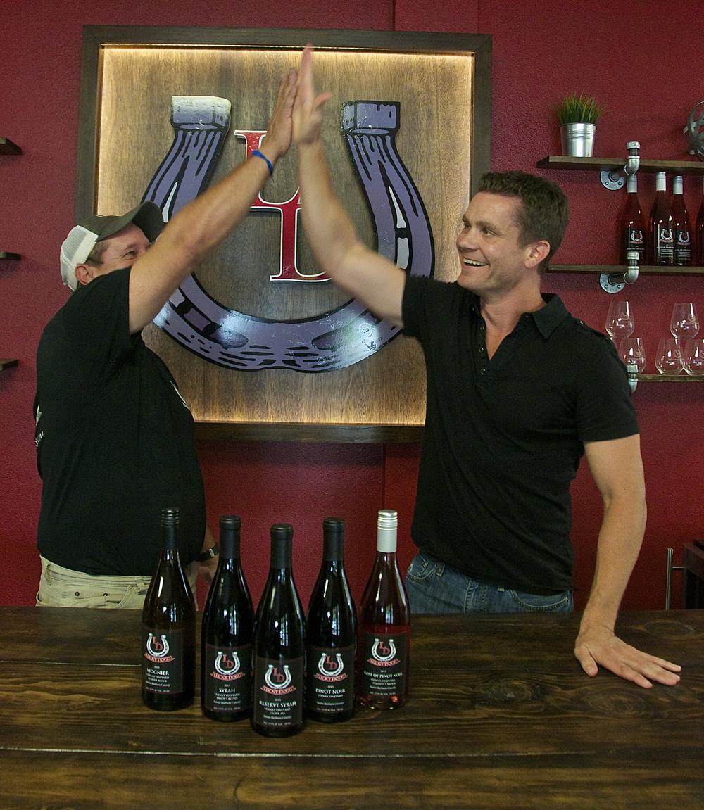 (L) Brent Melville, Owner/Winemaker/President (R) Mead Whippo, Owner/Vice President