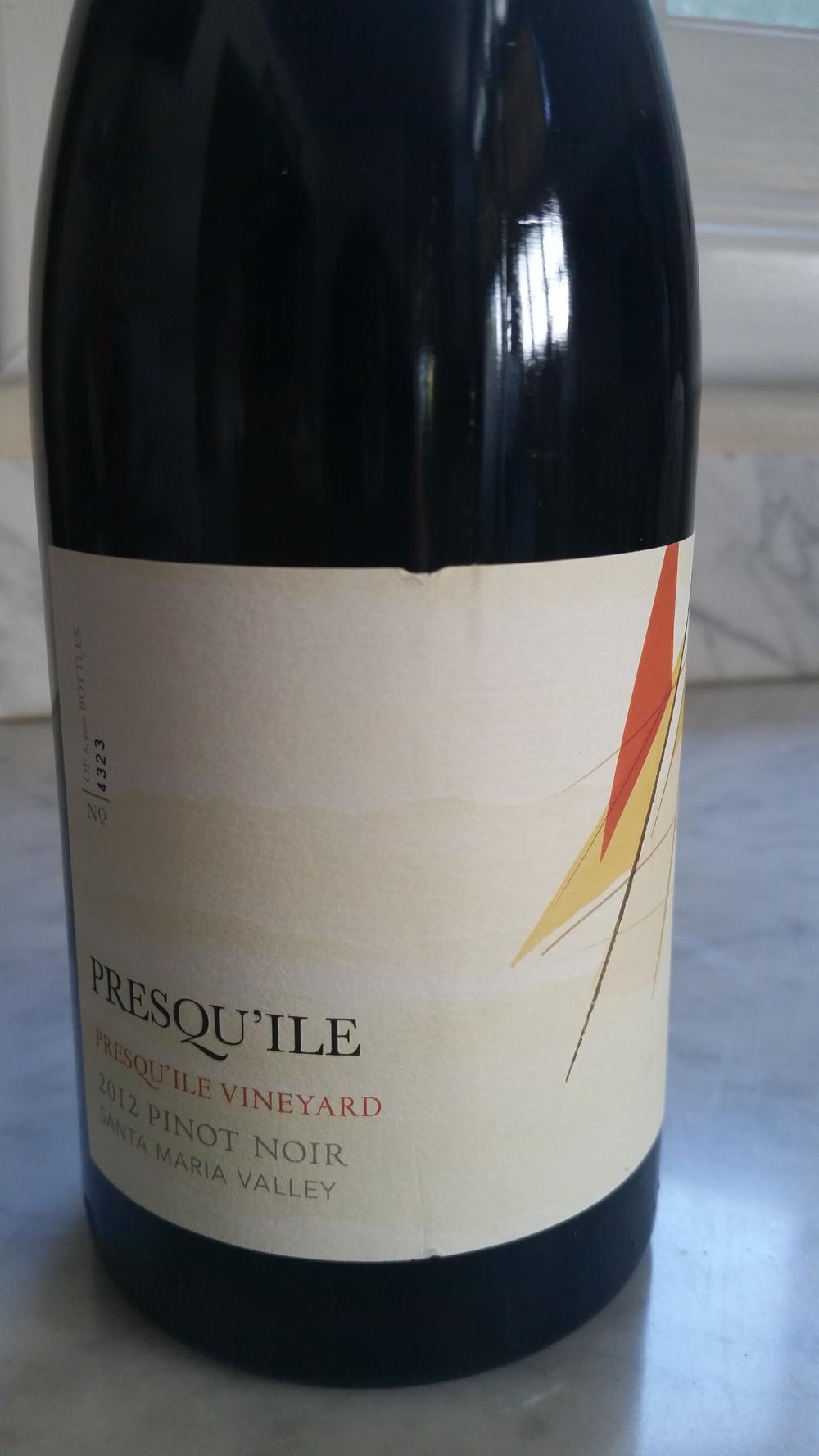 Presqu'ile 2012 Pinot Noir | VAULT29
