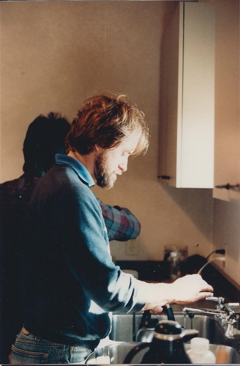 Knuttle in the Saintsbury lab (1986)
