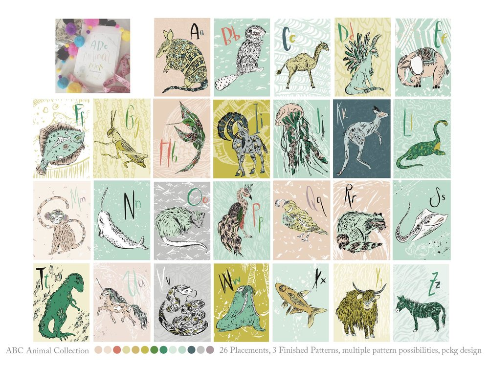 Whimsical ABC Animals