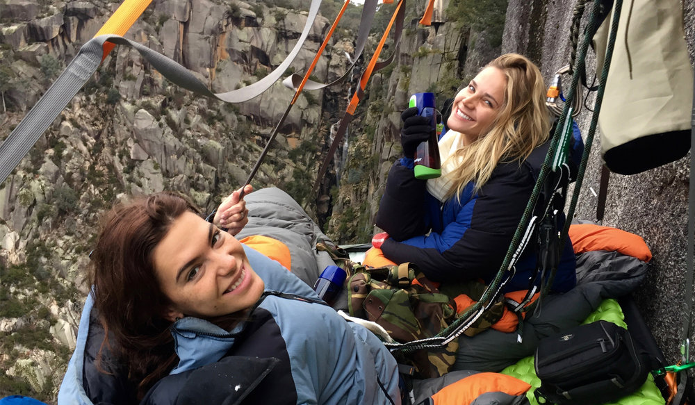 Beyond the Edge Portaledge Girls on the Ledge