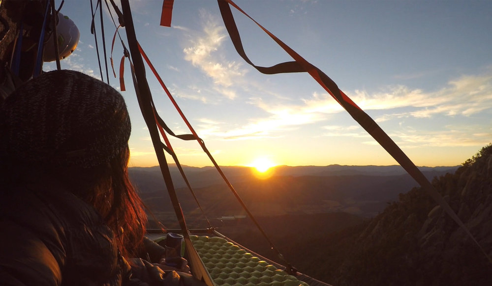 Beyond the Edge Portaledge Sunrise