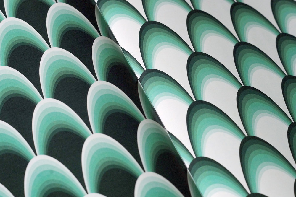 COLOR THEORY - A book of five striking wallpapers, designed using shades of a single color.