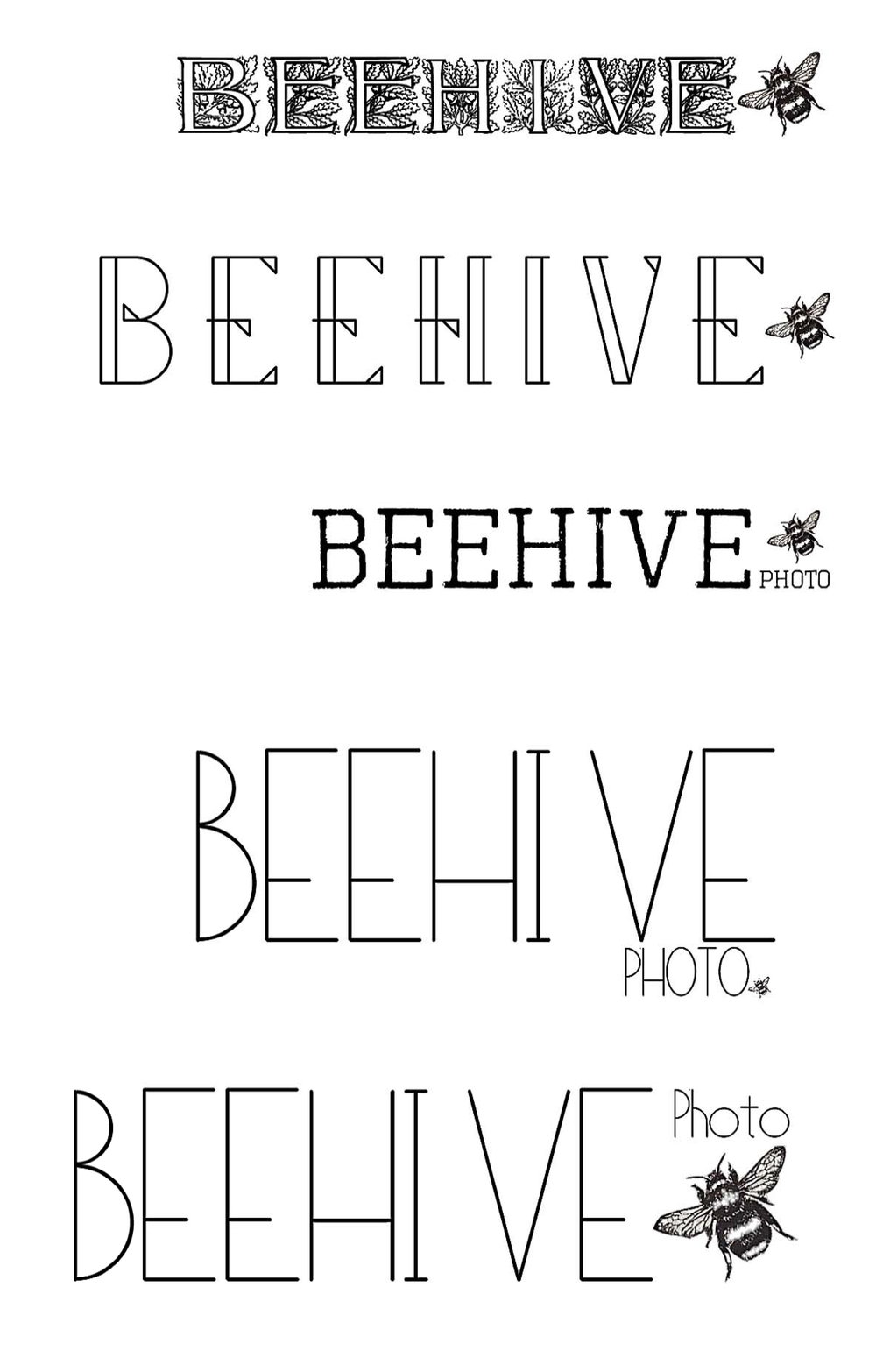 Logo Mock Ups For Beehive Photo
