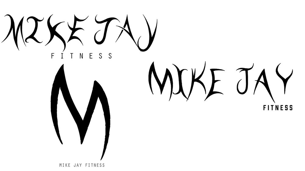 Logo Mock Ups For Mike Jay Fitness