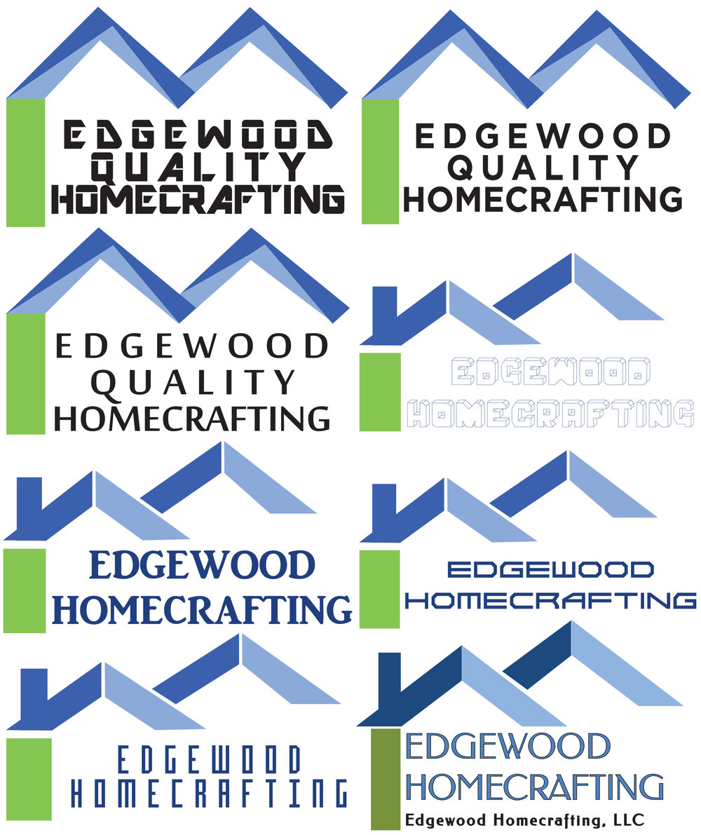 Logo Mock Ups For Edgewood Homecrafting