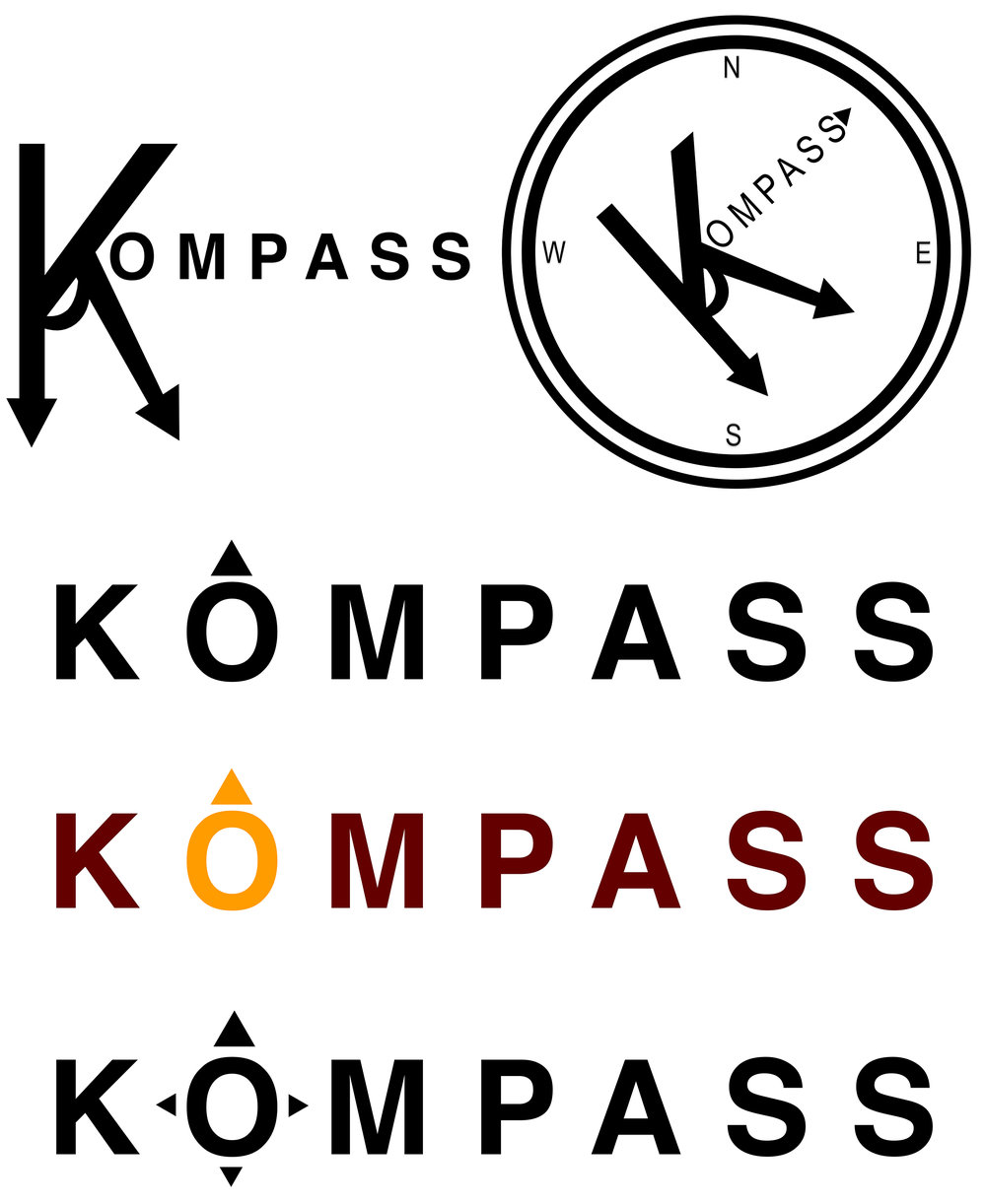 Logo Mock Ups For KOMPASS