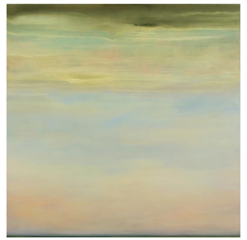 """Mist Around Aran Island, Ireland, oil on panel, 24""""x24"""", 2014."""