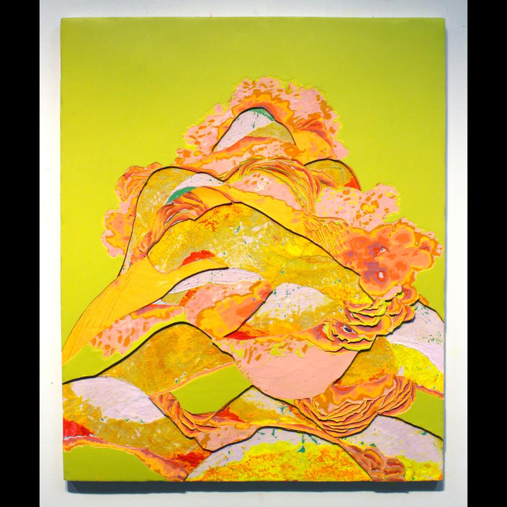 "Rock Pile Mountain, acrylic on panel, 36""Hx24"", 2013"
