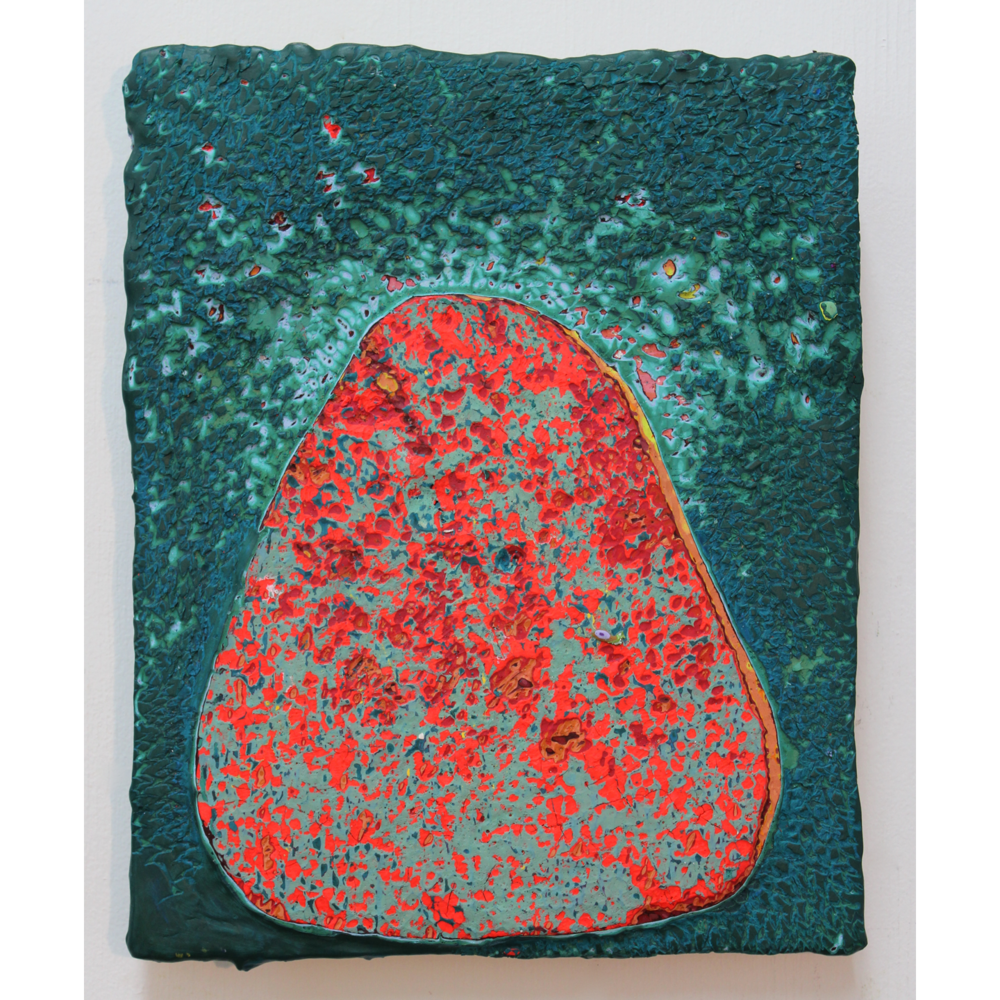 "Untitled, acrylic on panel, 12""Hx9"", 2014"