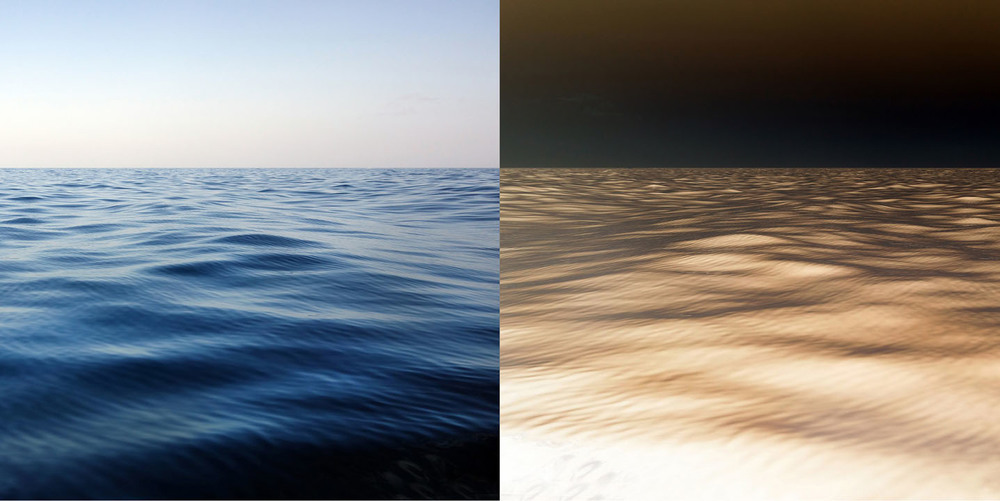 "Ocean, digitally-printed photograph, 24"" x 36"", edition of 3, 2014"