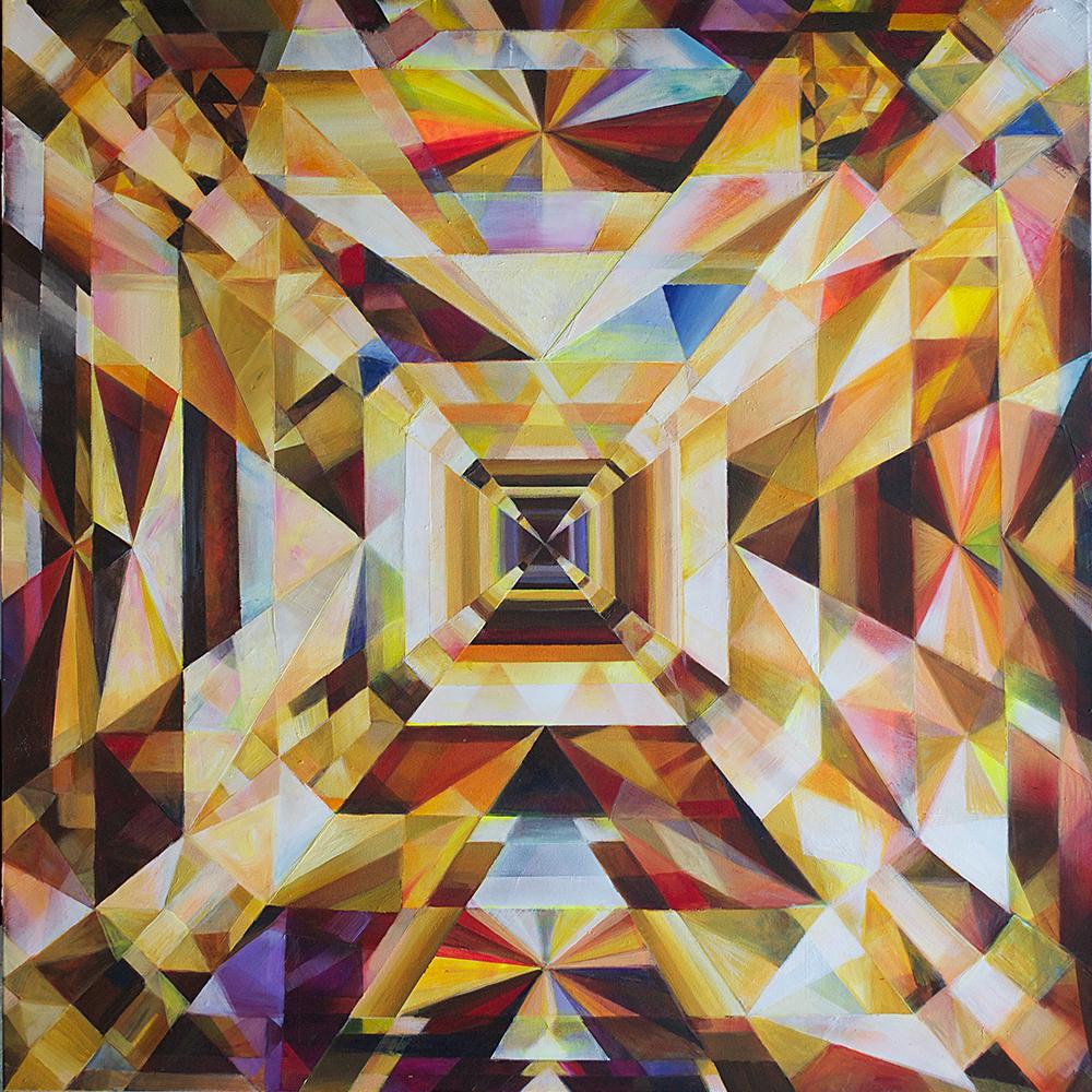 """Sunlight, acrylic on canvas, 48""""x48"""", 2014."""