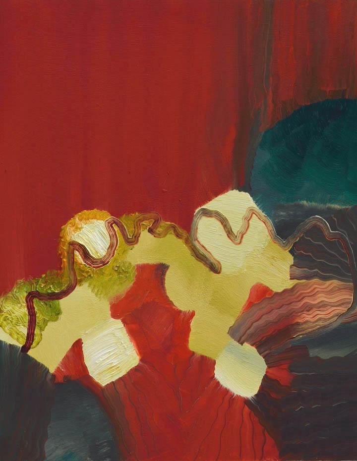 """Flora,oil on panel, 14"""" x 11"""", 2014"""