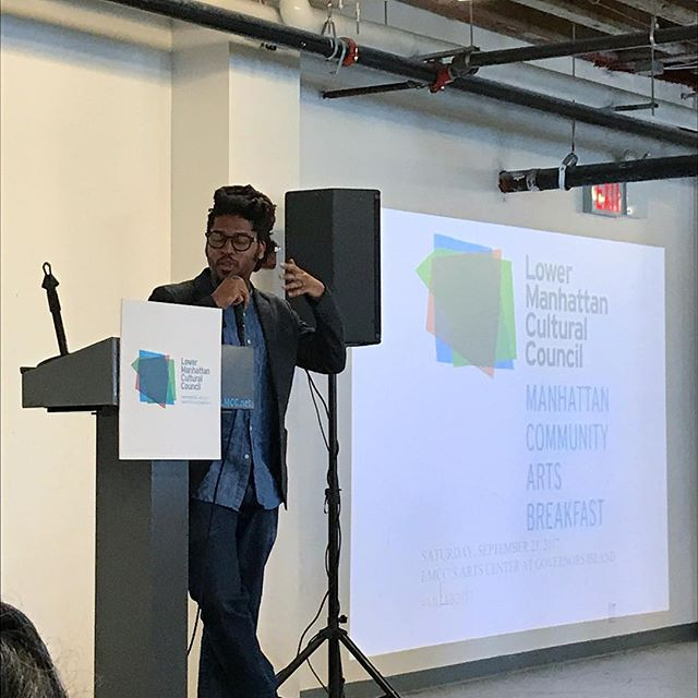 Honored to be a grantee at the @lmcc_nyc Manhattan Community Arts Breakfast & hearing keynote speaker @kamauware of @blackgotham talk about the arts in #nyc - #art