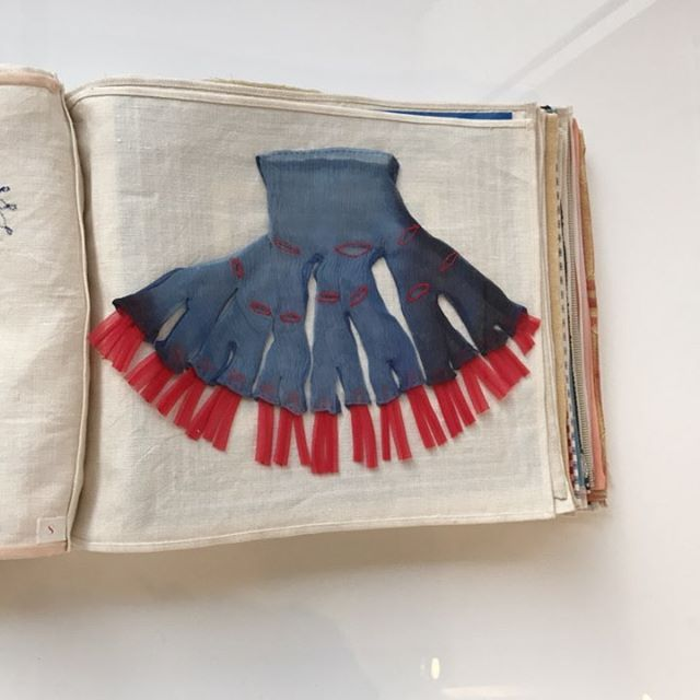 Wow - Louise Bourgeois #fabric works at @carolina_nitsch - #art #nyc #chelsea #book