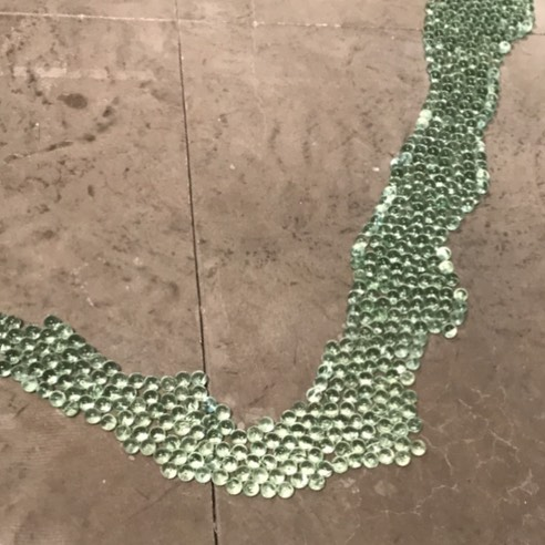 Detail of Maya Lin Columbia #River #installation at @pacegallery - #art #nyc #chelsea