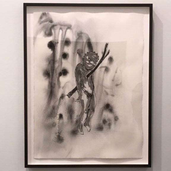 Kara Walker at @sikkemajenkins is breaking my heart -#art #nyc #painting #paper #ink #race #racism