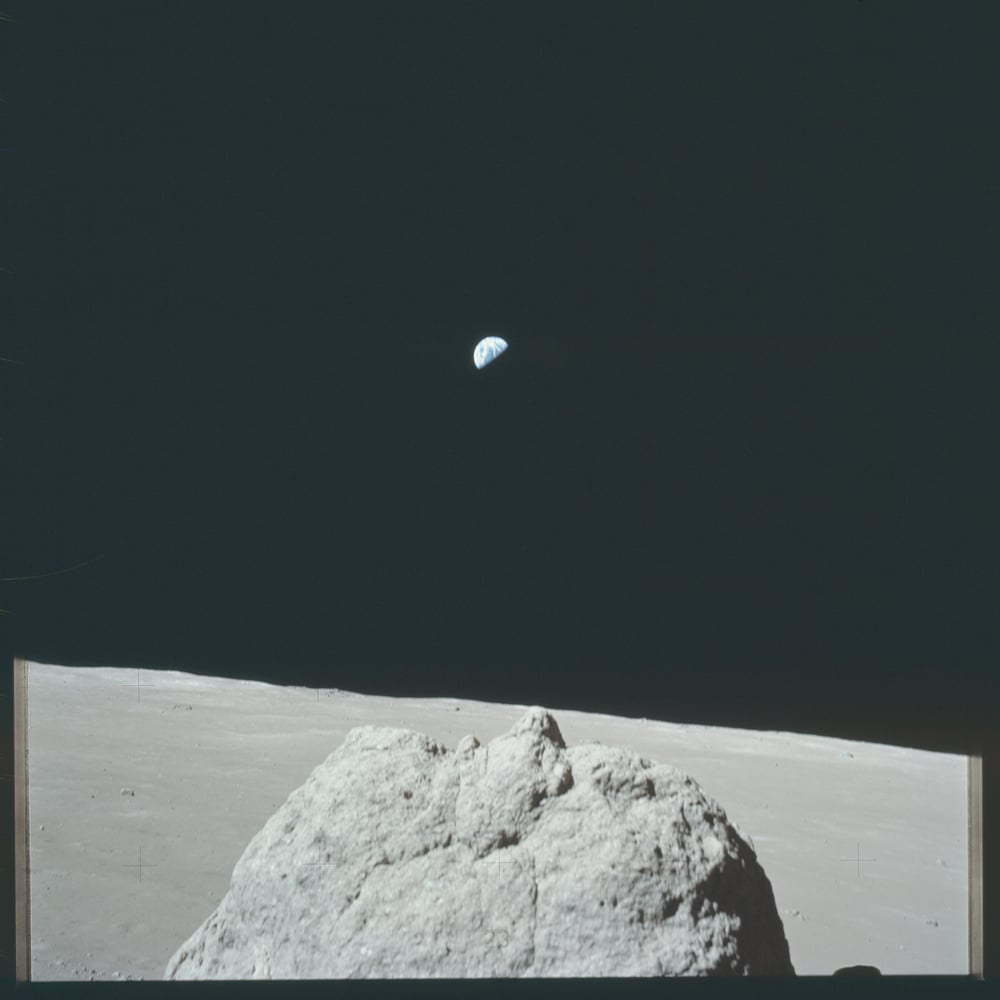 View of the Earth from the Moon. Photo Courtesy of NASA Apollo 17 Mission, 1972.