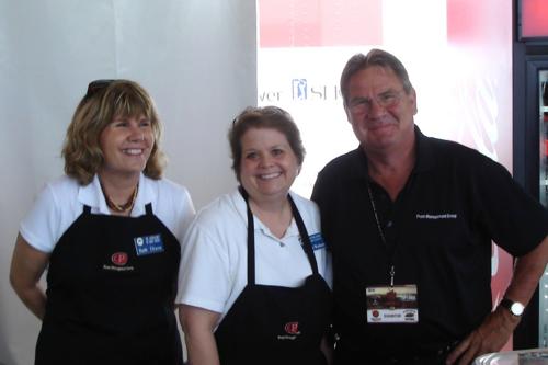 Barb Dixon, JATC Volunteer Coordinator; Bobbie Wydeen, JATC Member, Prom Catering Tent Manager