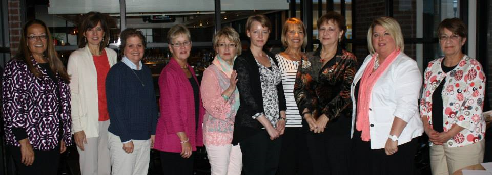 New active members of JATC (from left): Rondel Matney, Jennifer Holmes, Bobbie Wydeen, Donna Handel, Becky Koehler, Selina West, Cindi Saltzgiver, Carol Ann Raines, Joyce Woods and Sheila Martin. Absent: Maile Arp.