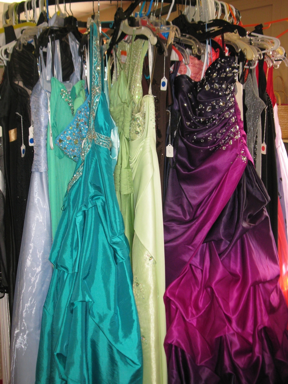 Prom Dresses to choose from.